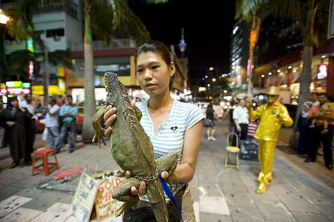 straatartiesten in Kuala Lumpur
