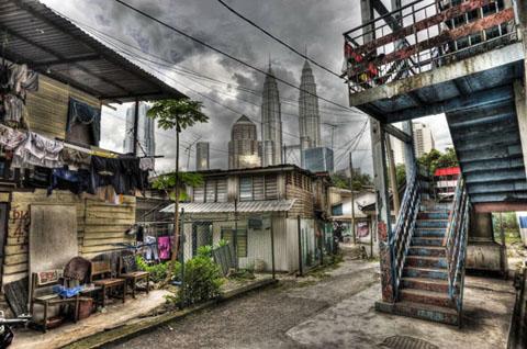 Kampung Baru, dorp midden in Kuala Lumpur