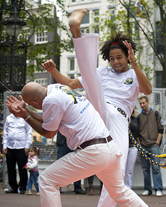 capoeira-demonstratie