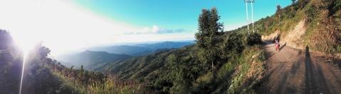 Landschap in de buurt van Phongsali