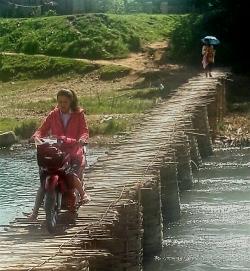 Brug in Luang Nam Tha.