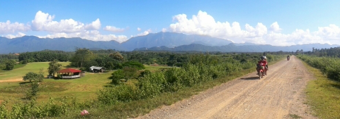 Landschap rond Sayabury