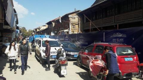 Oude wijk in Kunming die gaandeweg wordt opgeknapt.