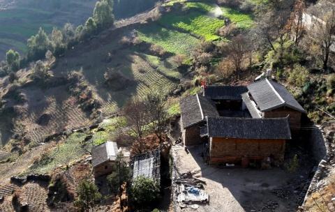 Boerderij op tweeduizend meter hoogte.