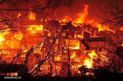 Charlotte vond deze foto van de brand op news.cn.